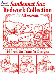 Sunbonnet Sue Redwork Collection for All Seasons