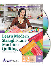 Learn Modern Straight-Line Machine Quilting Class DVD