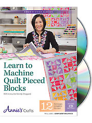 Learn to Machine Quilt Pieced Blocks Class DVD