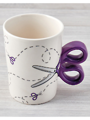 Purple Sewing Scissors Mug