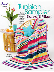 Tunisian Sampler Blanket & Pillow