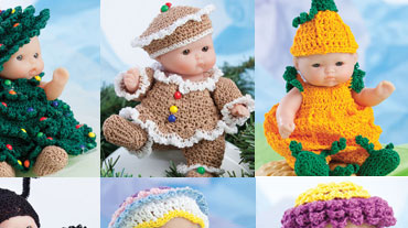 Lots to Love� Cute as Pie 5 Doll Clothes - Crocheters as well as doll lovers will appreciate...
