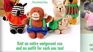 Zoo Animal Friends - Michele Wilcox, a knit designer for over 25 years, loved designing this...