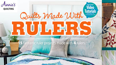 Quilts Made with Rulers - This book of trendy quilt projects is for the busy quilter looking...