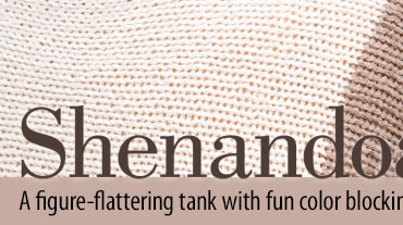 Shenandoah Tank - This A-line tank features mod styling with vertical color blocking that ma...